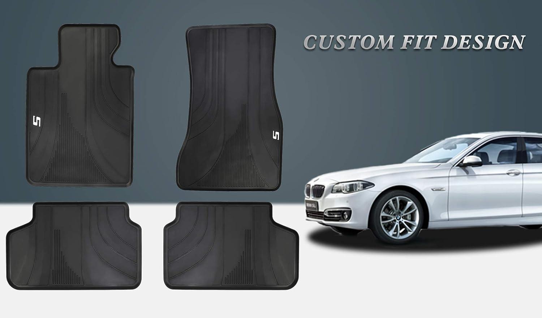 1 Premium Black All-Weather Rubber Interior Front Floor Mat for Auto-Car-Truck
