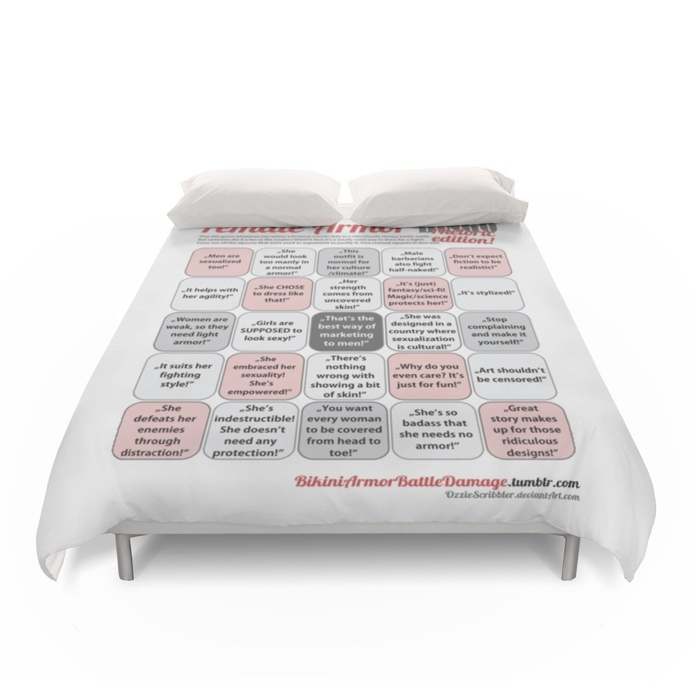 Society6 Female Armor Rhetoric Bingo Duvet Covers Full: 79'' x 79''