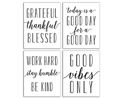 Amazon Elegant Signs Inspirational Wall Art Set Of Four 60x60 Impressive Quotes Cute