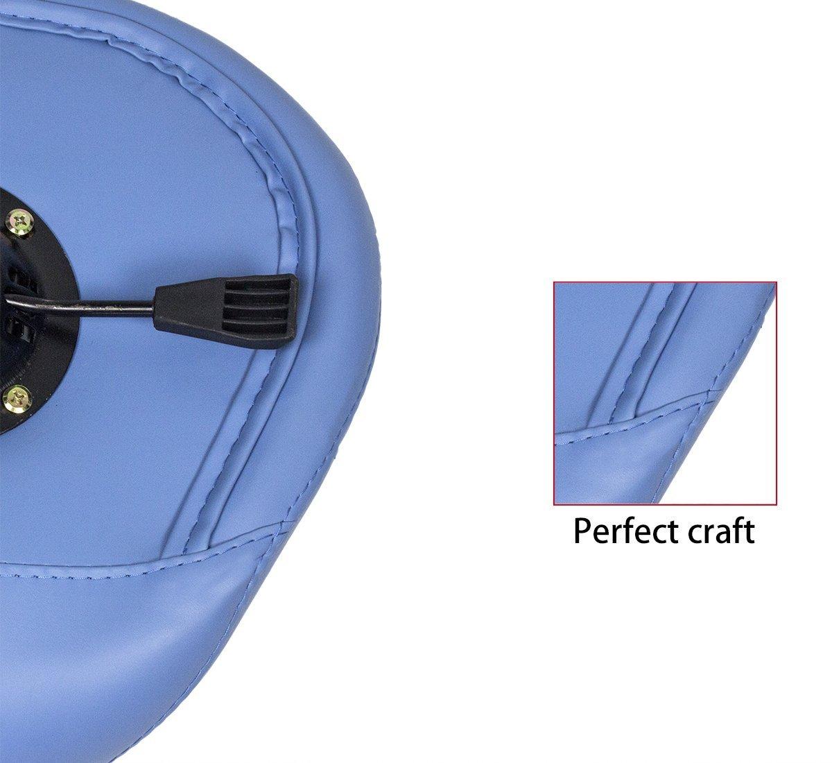 Antlu Saddle Stool Rolling Ergonomic Swivel Chair, for Drafting Massage Clinic Spa Salon,Adjustable Hydraulic with Wheels (Blue) by Antlu (Image #7)