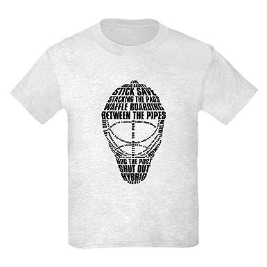 Amazon Com Cafepress Hockey Goalie Mask Text Kids Cotton T