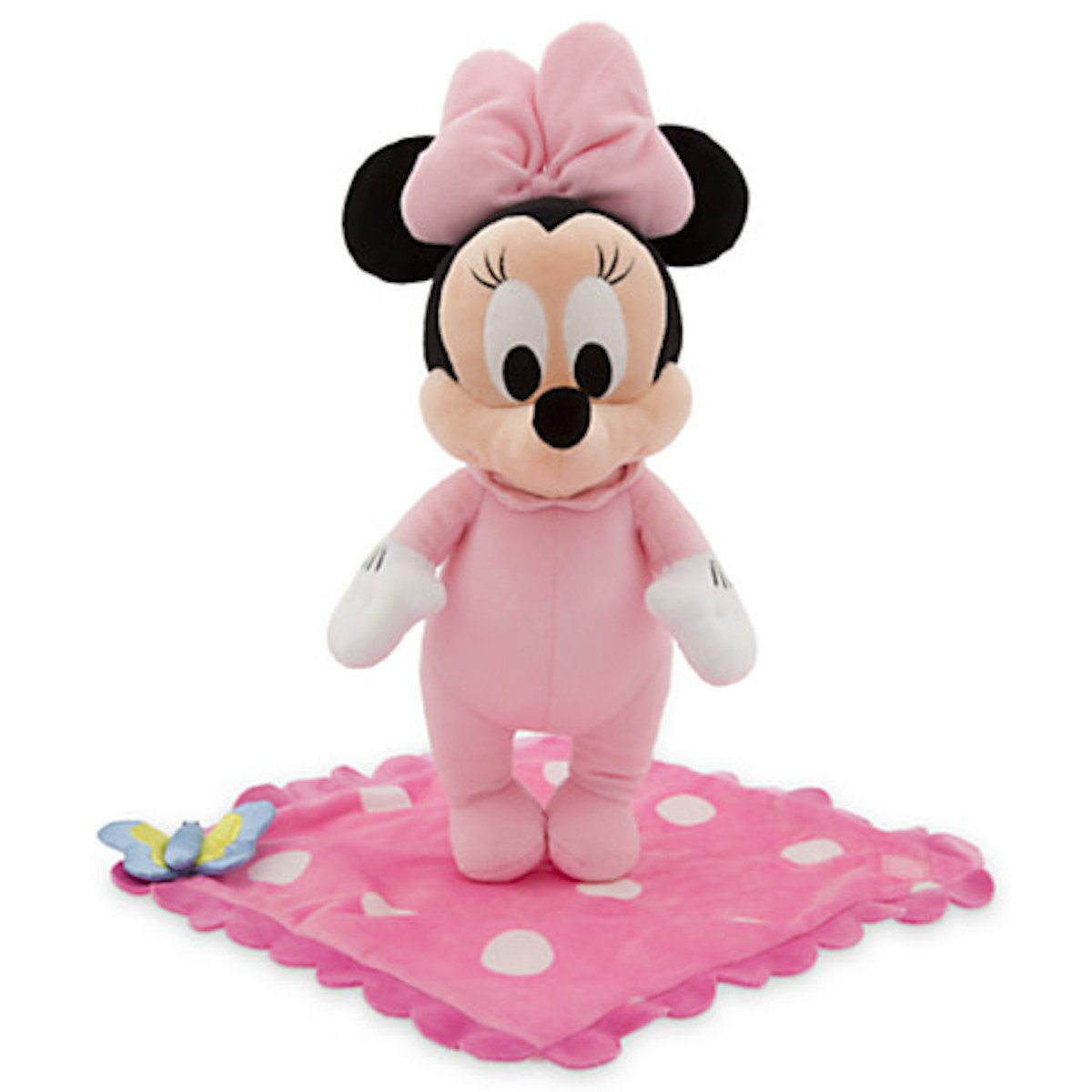 amazoncom disney theme park baby minnie mouse in a blanket plush doll new toys games