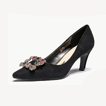 Zapatos Sra Alto Pu Microfibra De Tacón Yixiny Rq7qF