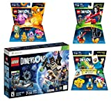 Lego Dimensions Starter Pack + Adventure Time Finn The Human Level Pack + Jake The Dog Team Pack + Marceline The Vampire Queen Fun Pack for XBox 360 Console