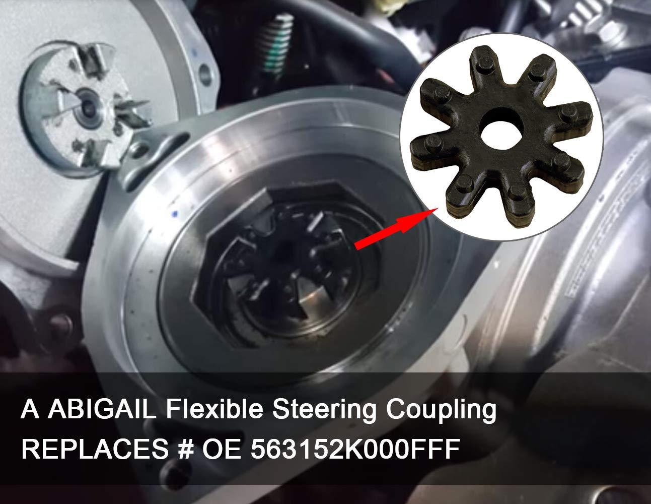 Flexible Steering Coupler Column Motor MDPS Clunk Noise Rubber Flex Coupling Repair for Hyundai Sonata Elantra Santa Fe Azera Veloster Kia Soul Optima Forte Cadenza Replaces 56330-4Z000 563152K000FFF
