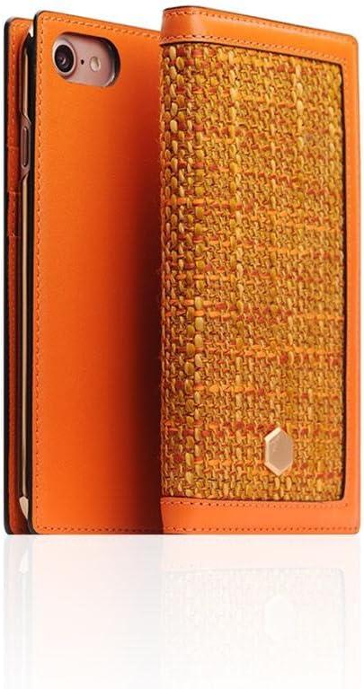 SLG Design D5 CSL Folder Case for iPhone 7|8, Orange, Italian Premium Leather, Handcrafted