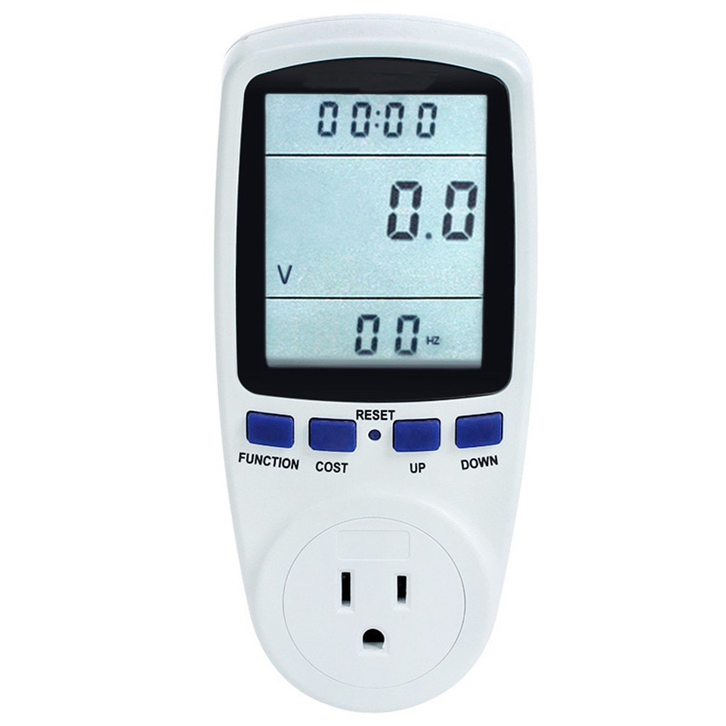 Power Meter Energy Voltage Amps Electricity Usage Monitor,Reduce Your Energy Costs with Backlight (with Backlight)
