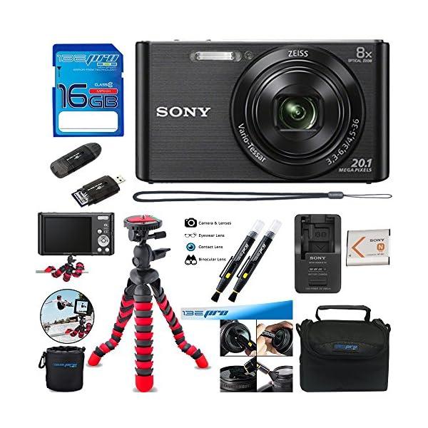 Sony DSC-W830 Digital Camera (Silver) – Essential Accessories Bundle