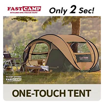 Fastc& Tent Mega for 4 Family Members (Instant Pop up Tent) (Brown) & Amazon.com : Fastcamp Tent Mega for 4 Family Members (Instant Pop up ...