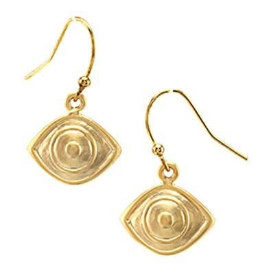 6100a97f7 Amazon.com: 'Evil Spirits' Matte Gold Finish Evil Eye Earrings, 1 ...