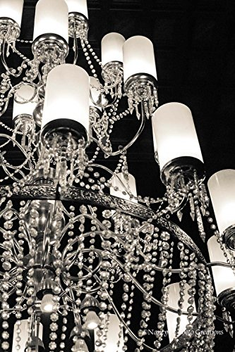 Sparkling Crystal Chandelier Wall Art Unframed Elegant Black and White Photography Old-world Decor Hotel del Coronado San Diego California Print 5x7 8x12 12x18 16x24 20x30