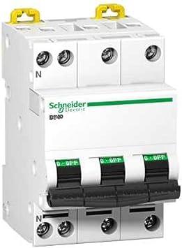 schneider dt40n 3 phases schneider electric a9n21409 courbe c 32 amp/ères neutre disjoncteur