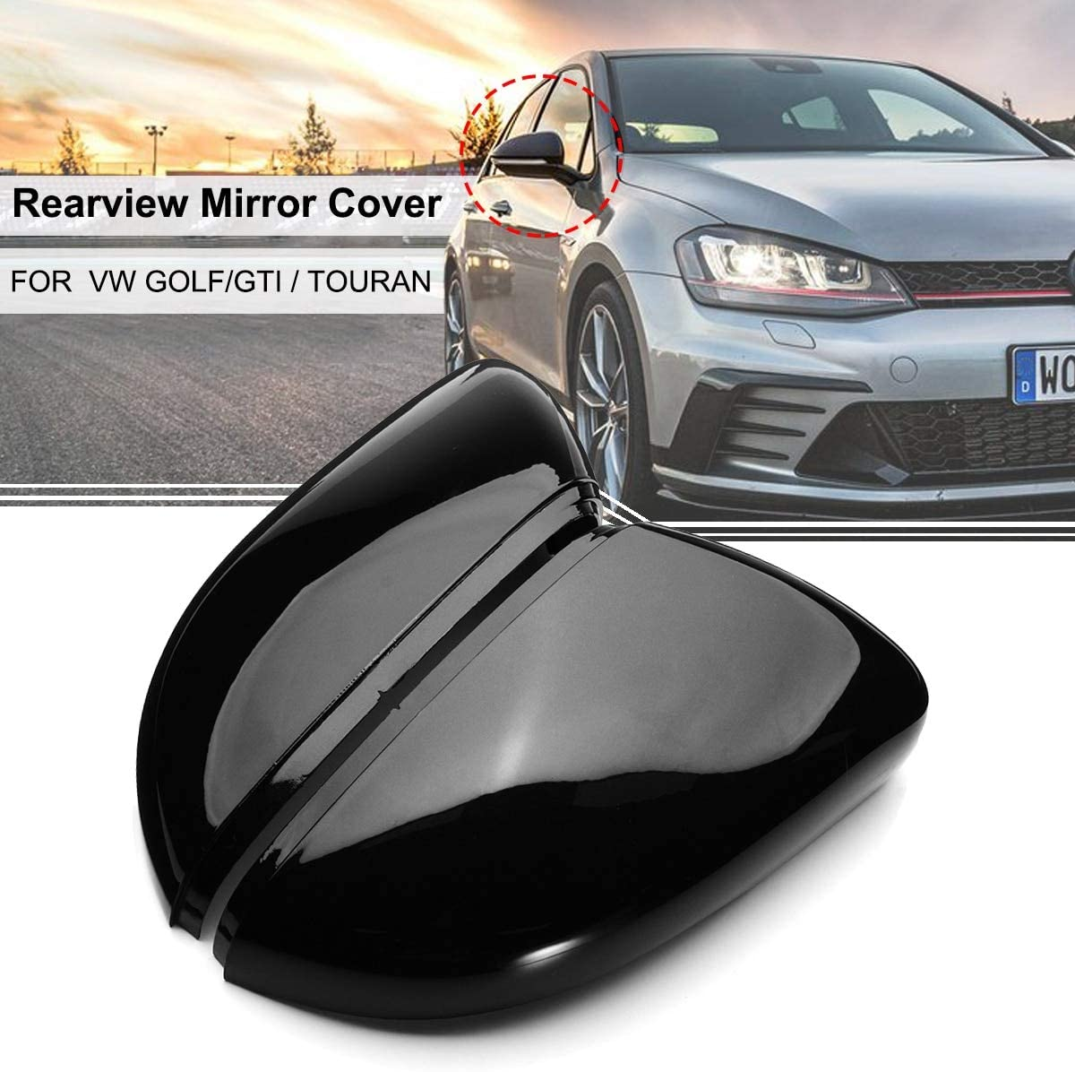 A Pair Wing Rear View Mirror Case Cover Trim Cap For Vw Golf Gti Mk6 Touran Amazon Com