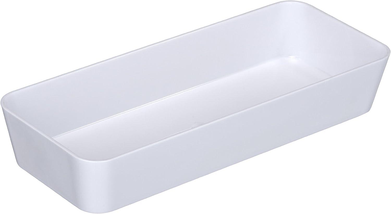 Wenko Candy BandejaOrganizadora, Poliestireno, Blanco, 10x24x4 cm