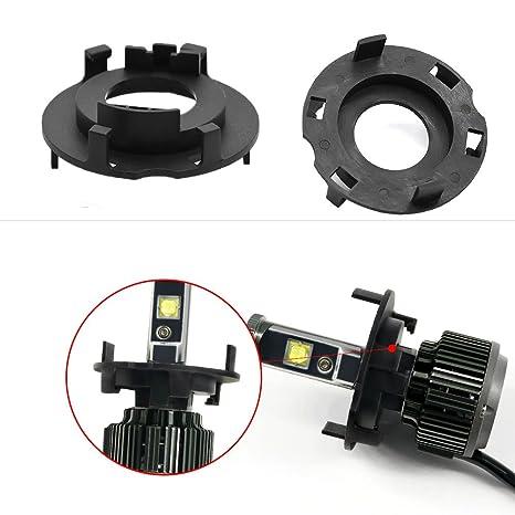 Amazon.com: Soporte de faro LED para coche retenedores HID ...