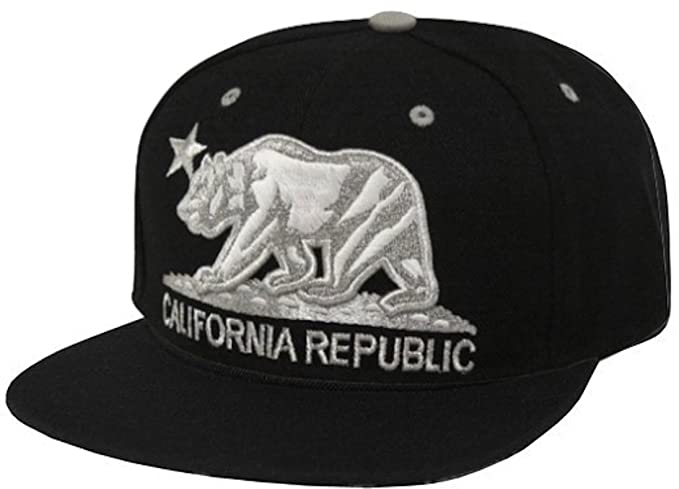 Image Unavailable. Image not available for. Color  California Republic Flat  Bill Visor Snapback Hat Cap ... 9ddfe12d63a7