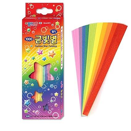 Amazon.com: Jong IE Origami Estrella Dorada de Nara plegable ...