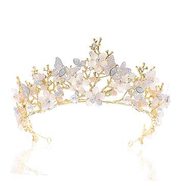 Butterfly Womens Adult Princess Costume Gold Headband