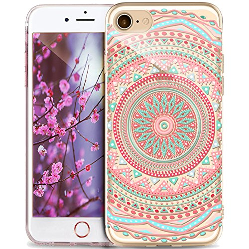 Price comparison product image iPhone 5S Case,iPhone SE Case,iPhone 5 Case,ikasus Ultra Thin Soft TPU Datura Mandala Sun Lace Flowers Soft Silicone Rubber Bumper Case,Crystal Clear Soft Floral Silicone Case for iPhone 5S 5 SE,#10