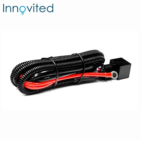 Innovited Universal relay wiring harness for all HID single kit H1, on 9007 hid installation guide, 9007 hid plug, 9007 hid lights,