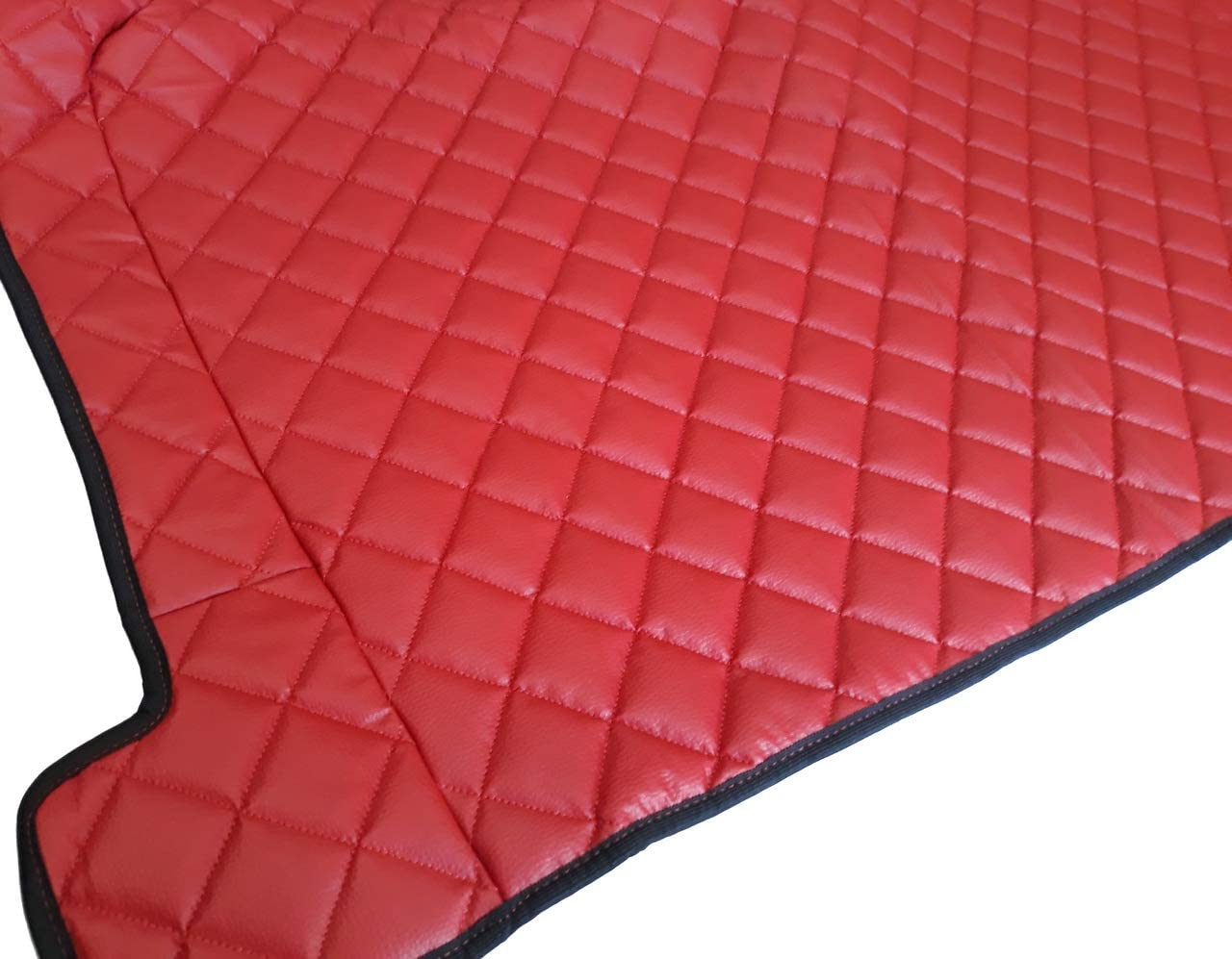 3 Piezas Color Rojo 24//7Auto Alfombrillas de Piel ecol/ógica para Camiones FH Euro 6 2014 de Cambio autom/ático