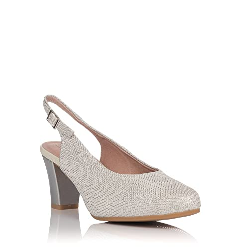 486ce803e0f PITILLOS Women s Court Shoes Silver Size  5.5-6  Amazon.co.uk  Shoes ...
