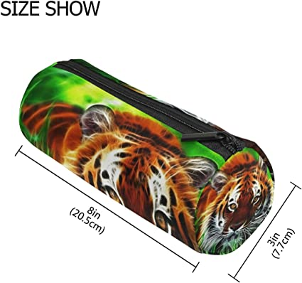 Tiger - Estuche 3D para lápices y bolígrafos, duradero, para estudiantes, papelería, oficina, con cremallera, para niños, niñas, adolescentes, universidad, escuela, material de escritura: Amazon.es: Oficina y papelería