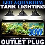 30W LED Aquarium Flood Light COOL White High Power Fish Tank Lighting Reef Plant Decor Salt Fresh H2O Main Lighting, Sub Lighting, Fresh Water Tanks, Salt Water Tanks