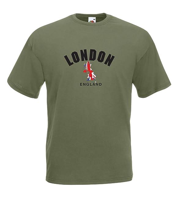 Selección de fútbol de Inglaterra de Londres T-Camiseta de Manga Corta - Todos los tamaños: Amazon.es: Ropa y accesorios