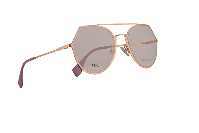 d34ea1ca398b9 Fendi FF0329 Eyeglasses 53-20-140 Gold Copper w Demo Clear Lens DDB ...