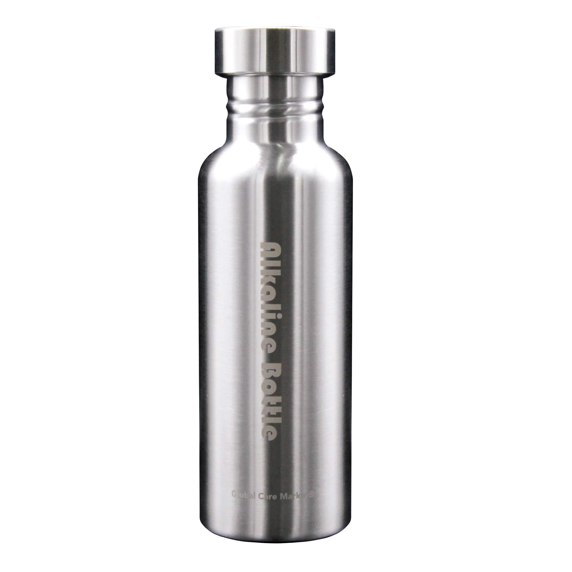 Global Care Market New Alkaline Water Bottle Big 650ml Capacity Nano Energy Water Flask Stainless Steel Alkaline Water Filter Bottle to Naturally Enhance Drinking Water by Global Care Market