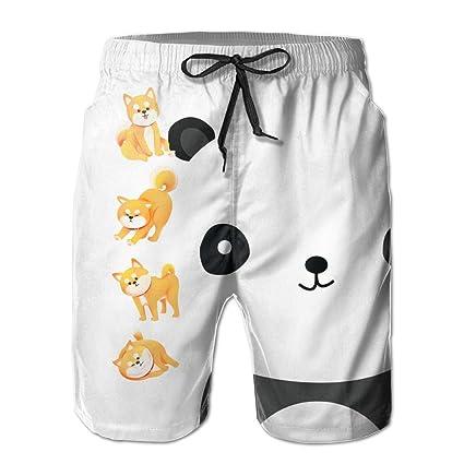 049b5fd29c Amazon.com: Cute Shiba Dog Lovly Animals Shiba Inu Swim Trunks Quick ...