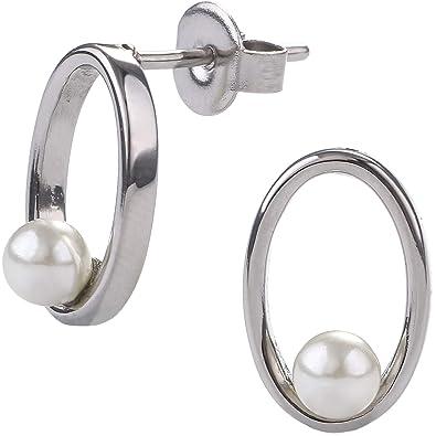 EYS Jewelry - Pendientes de mujer ovalados de acero ...