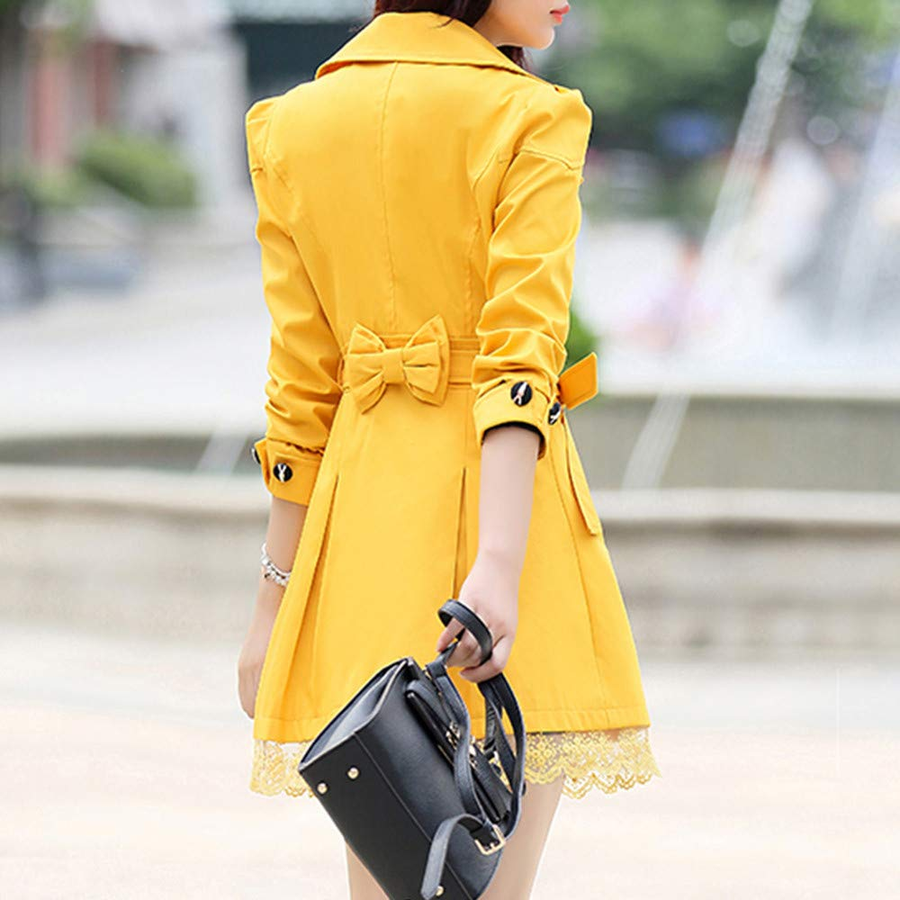Amazon.com: Clearance Sale for Coat.AIMTOPPY Ladies Bow Lace Button Lace Long Sleeve Trench Coat Long Jacket: Computers & Accessories