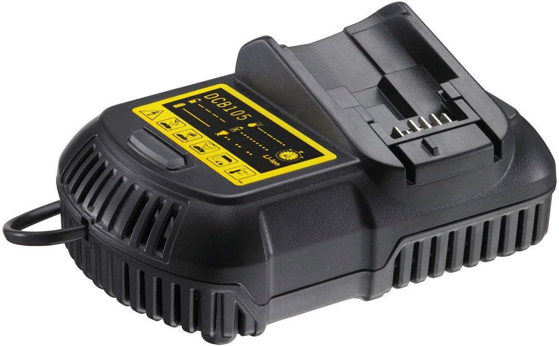 Boetpcr DCB105 para Dewalt 10.8V 12V 14.4V 18V cargador de batería de iones de litio para DCB101 DCB120 DCB181 DCB182 DCB200 DCB201 DCB203 DCB204 DCB107