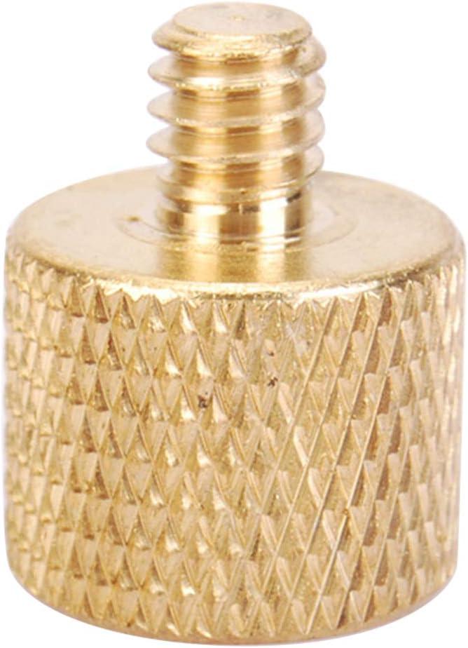 ihen-Tech Gold Messing Stativ Gewinde Schraube Adapter 3//8 Buchse auf 1//4 m/ännlich Kupfer Konverter f/ür Kamera-Zubeh/ör