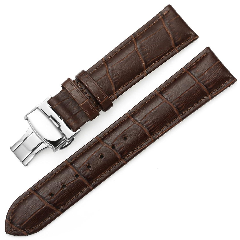 istrap mm Piel de vacuno Aligator muste Reloj banda de pulsera Watch