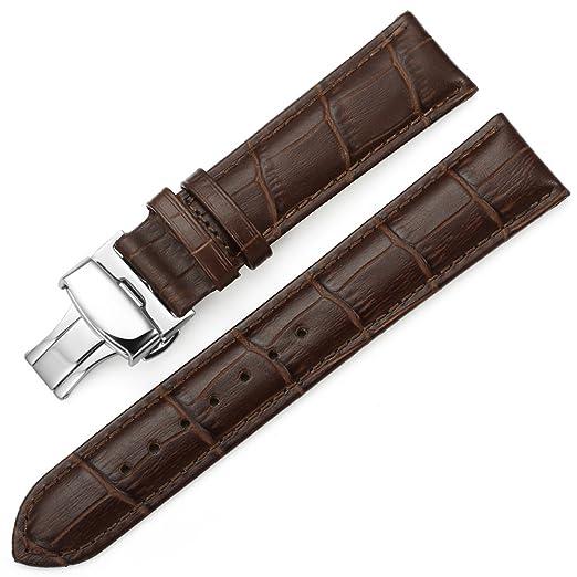 2 opinioni per iStrap 20mm Modello di coccodrillo Vera Cuoio Cinturino Fascia Draccialetto per
