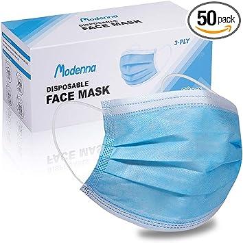 Modenna Face Mask Blue Disposable 50Pcs