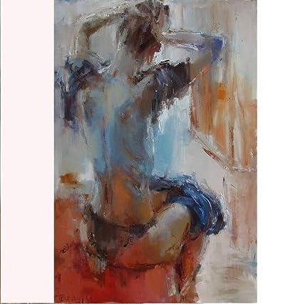 Xiaoxinyuan 100 Pintado A Mano Pintura Al óleo Desnuda Mujer