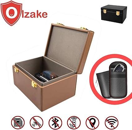 Olzake - Caja para Llaves de Coche Faraday con Bloqueo de señal ...