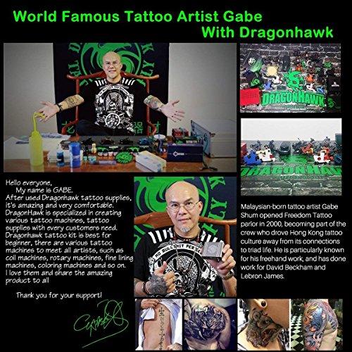 Dragonhawk Complete Tattoo Kit 2 Machine Gun 10 Color Inks Power Supply by Dragon Hawk (Image #7)
