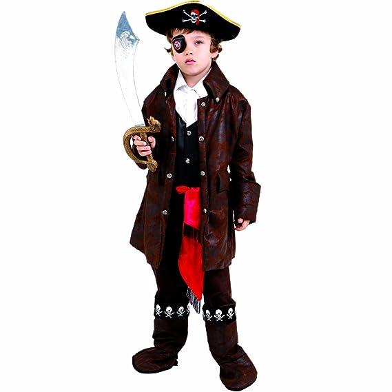 Dress up America Disfraz de pirata de niño caribeño lindo: Amazon.es: Juguetes y juegos