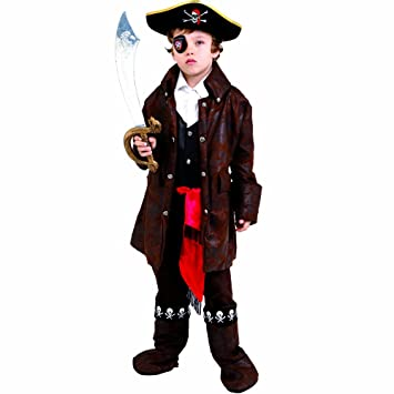 Dress Up America Disfraz de Pirata de niño caribeño Lindo: Amazon ...
