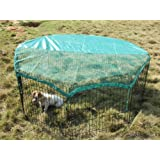 "8 Panel 24"" Pet Playpen w/Door & Cover Rabbit Enclosure"