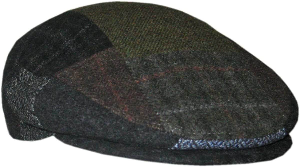 Patch Flat Cap Hat Made in Ireland by Mucros Weavers.Free Worldwide Shipping