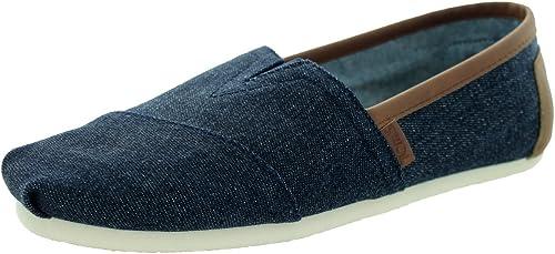 Toms Classic Shoes Blue 7 UK: Amazon.co