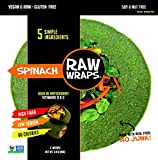 Raw Wraps Spinach- Gluten & Soy Free, Vegan & Raw, Paleo (Quinoa Seeds)