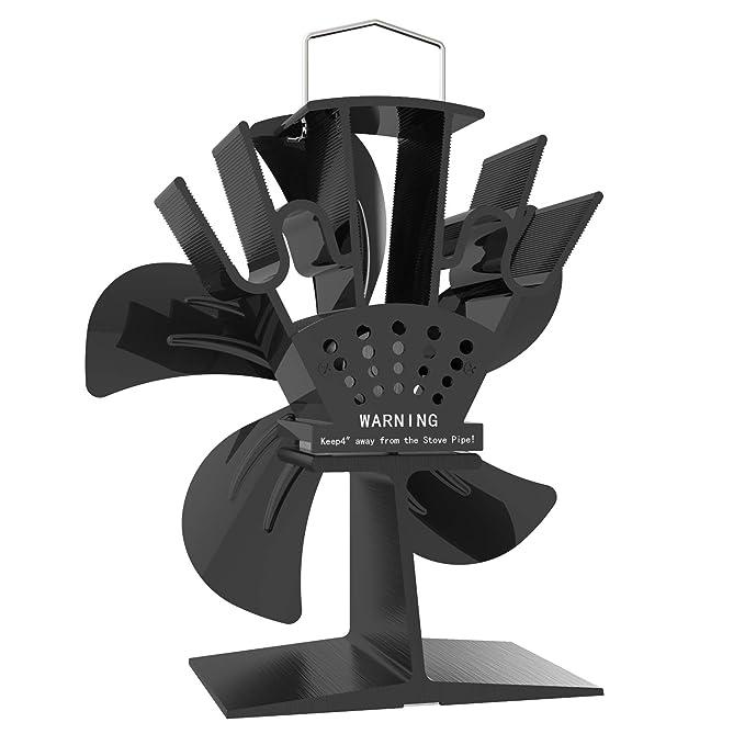 Amazon.com: X-cosrack - Ventilador para estufa (5 aspas, con ...