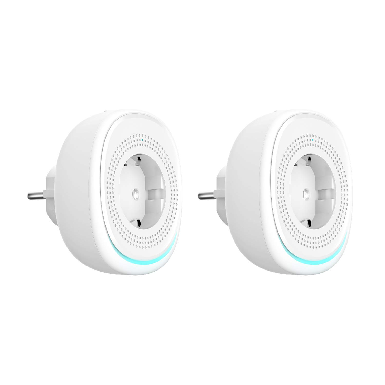 KEXIN Lot de 3 Prise Connect/ée WiFi Intelligente avec USB Port Chargeur et RGB Lampe Aucun Hub Requis Contr/ôle APP /à Distance et Fonction Timer Compatible avec  Alexa Google Home